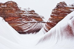 Winter storm at the Wave in Coyote Buttes North