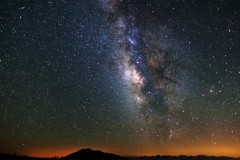 Galactic Core of the Milky Way above the White Mountains